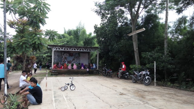 Lokasi kegiatan di lapangan olahraga Perumahan Griya Indah Serpong, Bogor