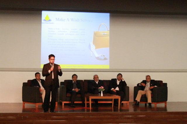 Bapak Dwi Cesario dari PT. Ningrat Muda Mandiri dalam sesi guest lecture