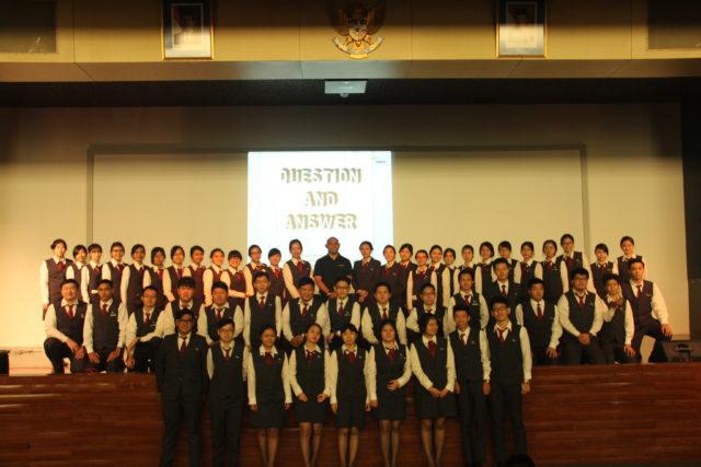 Foto bersama mahasiswa HM B2019