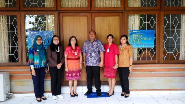 Tim PPM STP Nusa Dua Bali bersama Tim Hotel Managemen Binus