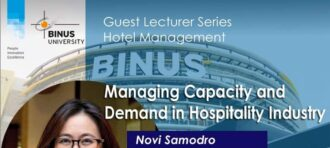 """GUEST LECTURE & WEBMINAR """"MANAGING CAPACITY & DEMAND IN HOSPITALITY INDUSTRY"""""""