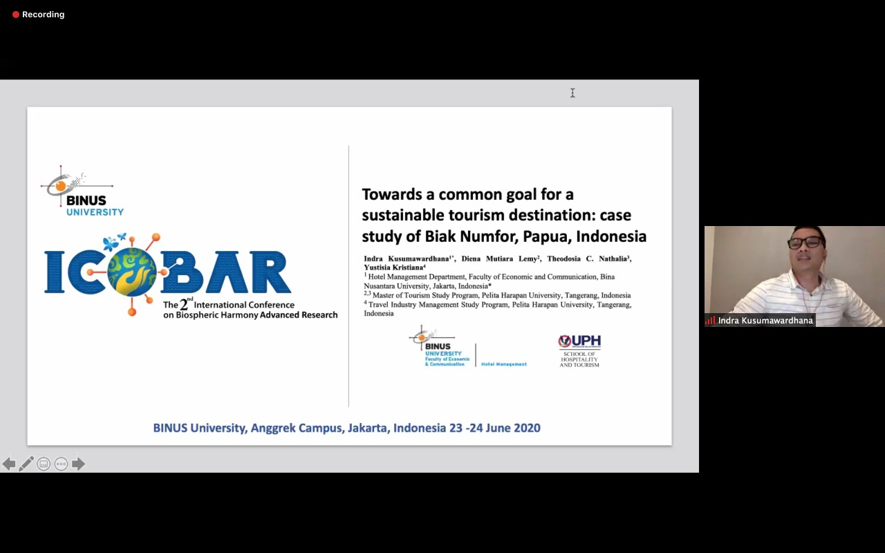 TOWARDS A COMMON GOAL FOR A SUSTAINABLE TOURISM DESTINATION: CASE STUDY OF BIAK NUMFOR, PAPUA, INDONESIA