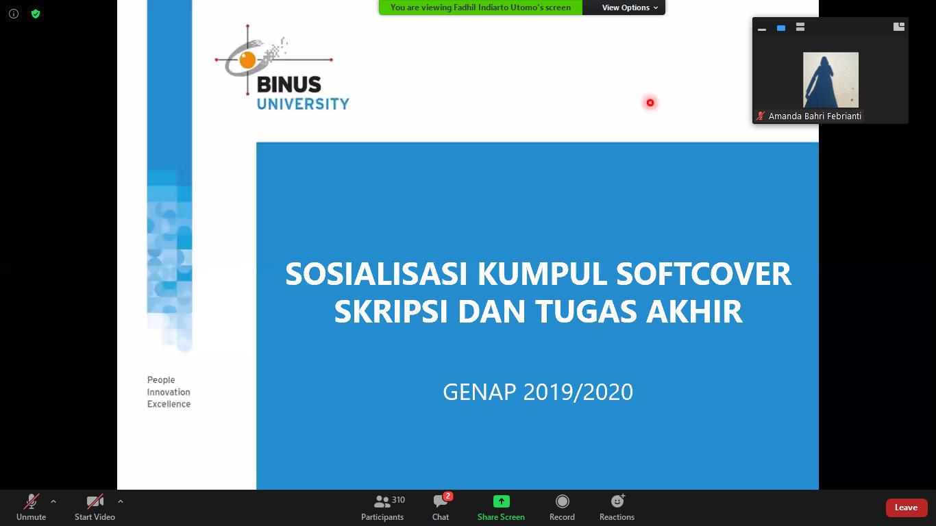 Sosialisasi Pengumpulan Skripsi Via Online 2020