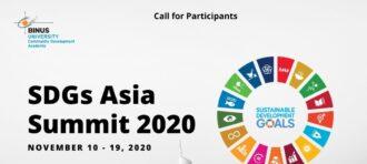 SDGs ASIA SUMMIT 2020- DAY 1