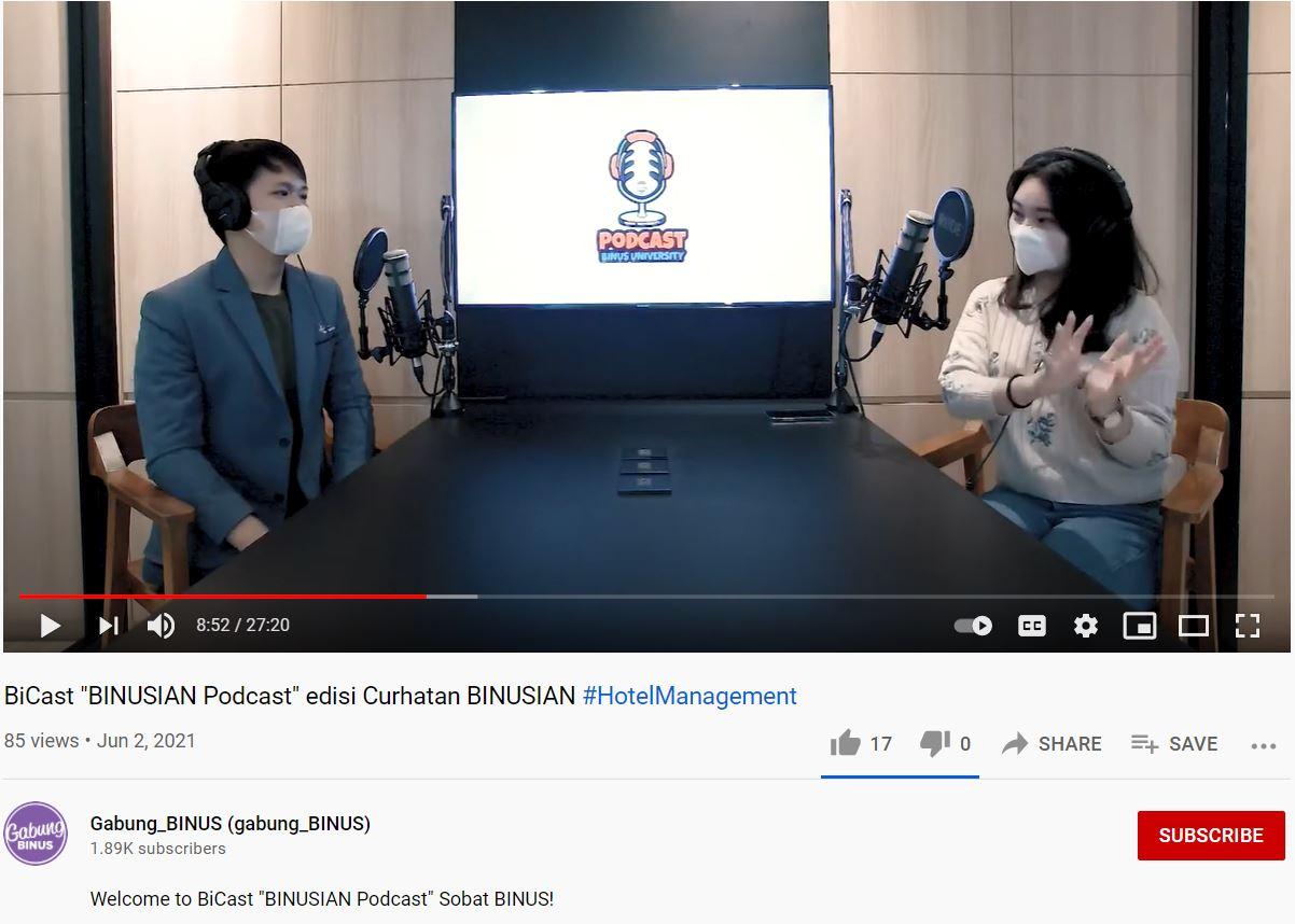 "BiCast "" Binusian Podcast"" edisi Cerita BINUSIAN #HotelManagement"
